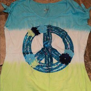 Justice peace sign shirt